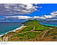 In St. Kitts, where the Caribbean Sea meets the Atlantic Ocean