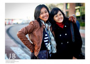 Novita and Vena, my beautiful classmates from Indonesia. This picture was taken on our trip to Gorrsel, Betherlands.