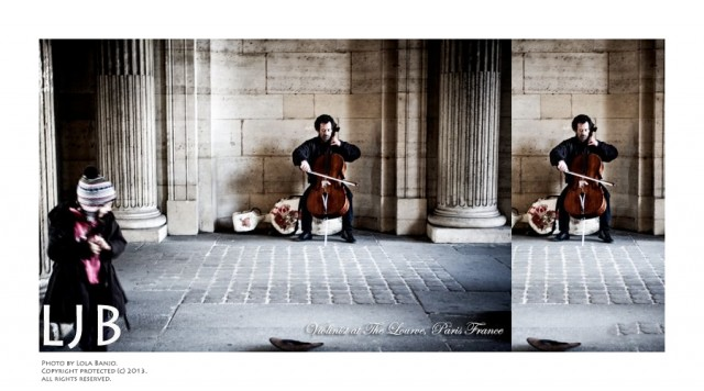 Before even entering the Louvre, there was already so much to be fascinated by. This man played some of the most beautiful sounds I have heard. I tried to capture the essence of his art in a photograph.