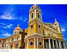 The beautiful Cathedral of Granada in Granada, Nicaragua